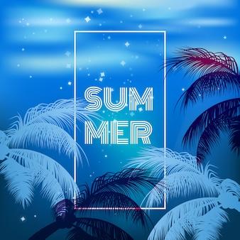 뜨거운 여름 밤 파티 포스터 배경 벡터