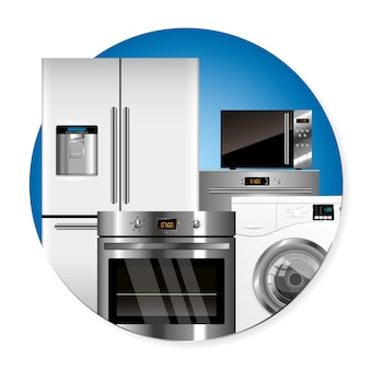 Vector household appliances