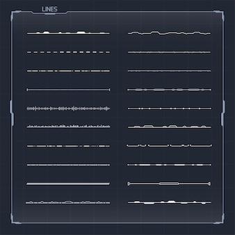 Набор векторных элементов hud для футуристического пользовательского интерфейса