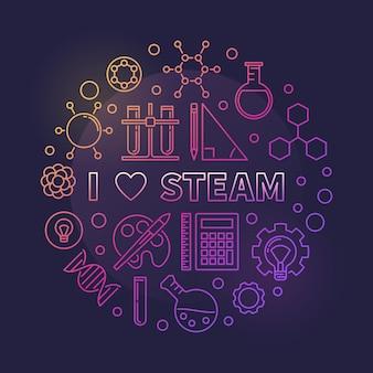 Vector i love steam