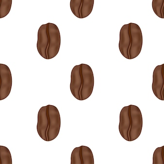 カフェのラベル、パッキング、エンブレムのベクトルアイコンコーヒー豆。パターン。漫画風のイラスト。