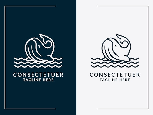Vector icon of fish illustration of logo template