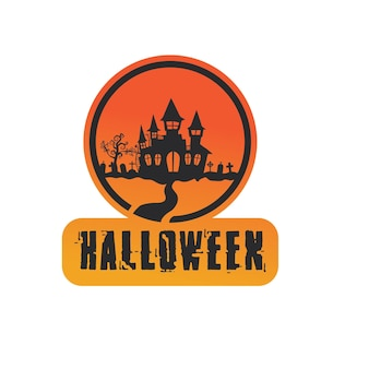 Vector icon for helloween greeting card and poster party sign concept illustration with sign and symbol