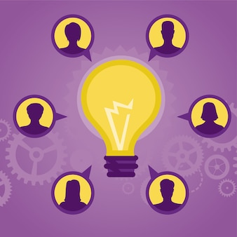 Vector idea concept - bulb