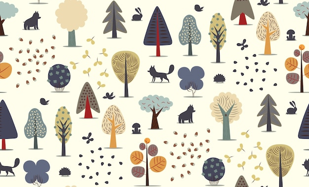 The vector illustrated seamless pattern