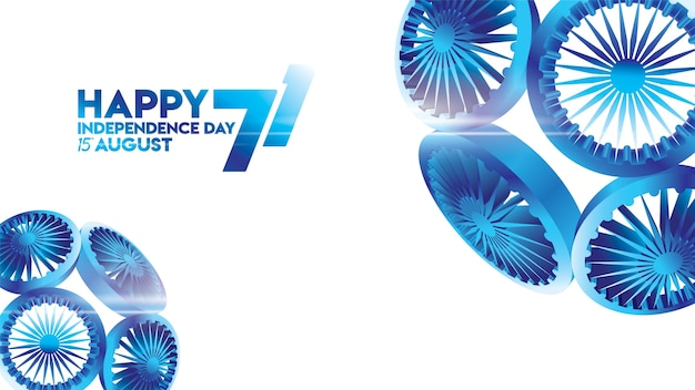 Vector illustration 15th august happy independence day