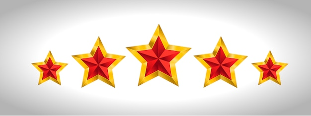 Vector illustration of 5 gold stars christmas