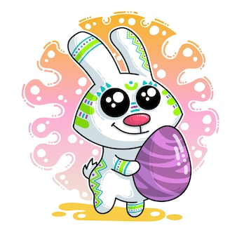 Vector illustration about easter bunny