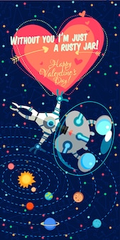 Vector illustration about space for valentine's day