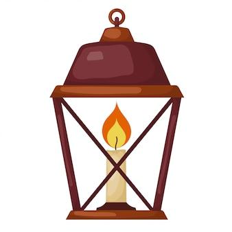 Vector illustration of abstract cartoon vintage lantern