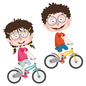 Vector illustration of abstract children