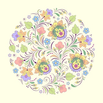 Vector illustration of abstract floral pattern
