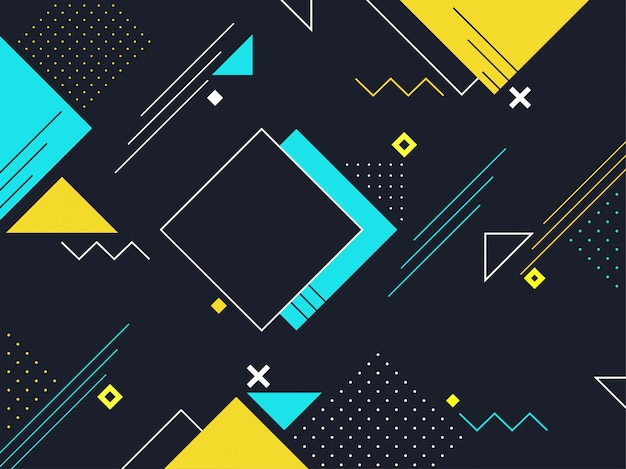 Vector Square Background Hd Vector Three Dimensional: Geometric Vectors, Photos And PSD Files