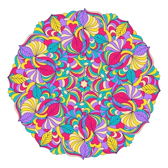 Vector illustration of abstract hand drawn mandala