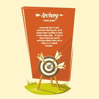 Vector illustration archery