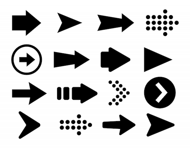 Vector illustration of arrows set