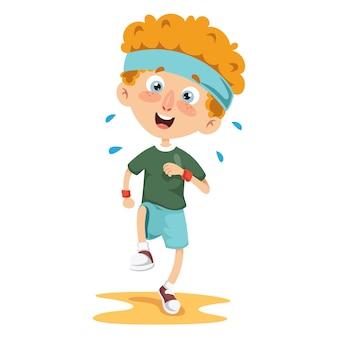 Vector illustration of athlete kid