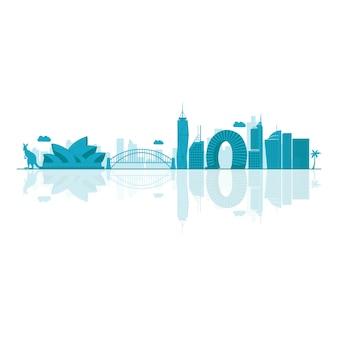 Vector illustration of australia skyline .