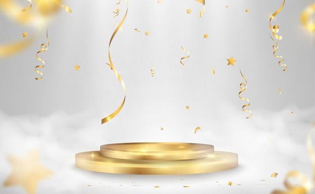 Vector illustration for award winners pedestal or platform for honoring prize winners