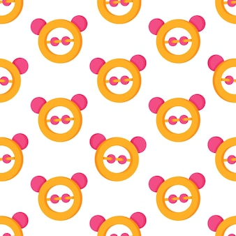 Vector illustration of baby rattles pattern. print with baby rattles. seamless pattern for carpets, wallpaper and more.