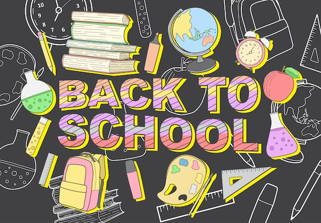 Vector illustration back to school modern design