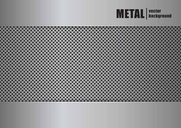 ベクトルイラスト:リアルな金属の質感の背景。