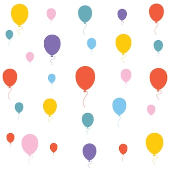 Vector illustration of balloons background