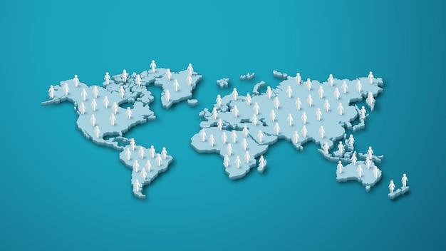 벡터 일러스트 레이 션, 세계 인구 day.paper 컷 스타일의 배너 또는 포스터