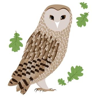 Vector illustration of barn owl