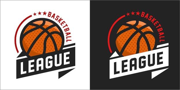 Vector illustration of basketball logo