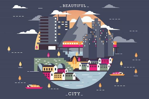 Vector illustration of beautiful city