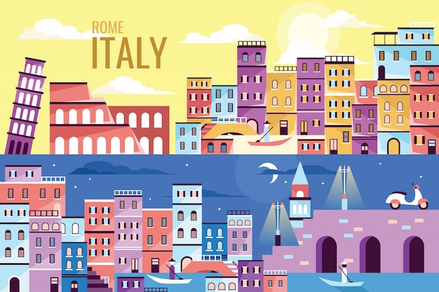 Vector illustration beautiful italy