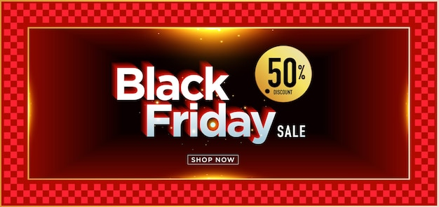Векторная иллюстрация черная пятница продажа баннер