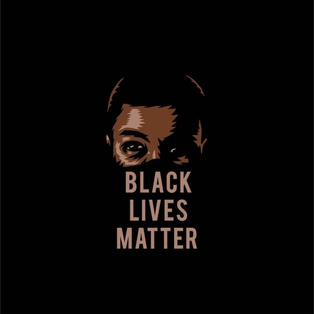 Vector illustration of black lives matter, isolated
