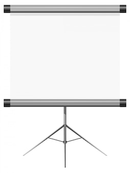 Vector illustration of a blank presentation