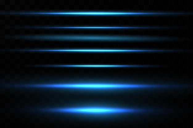 Vector illustration of a blue color light effect abstract laser beams of light chaotic neon