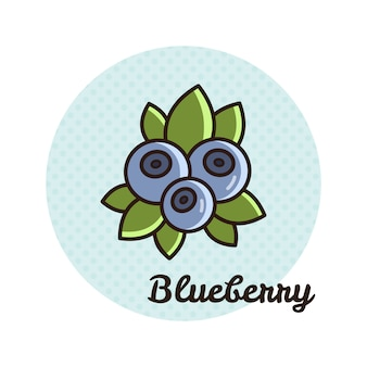 Vector illustration of blueberry.