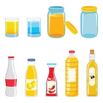 Vector illustration of bottles