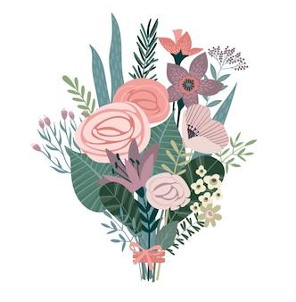 Vector illustration bouquet of flowers