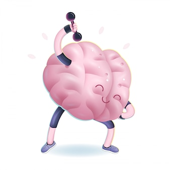 Vector illustration of brains activity