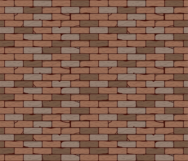 Vector illustration of brick wall seamless background or texture