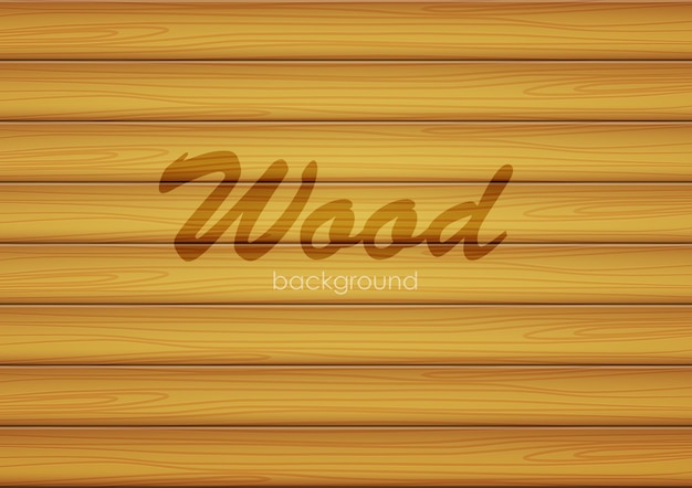 Vector illustration: brown background of wood texture