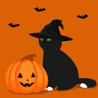 Vector illustration.  cartoon doodle halloween poster, card, print