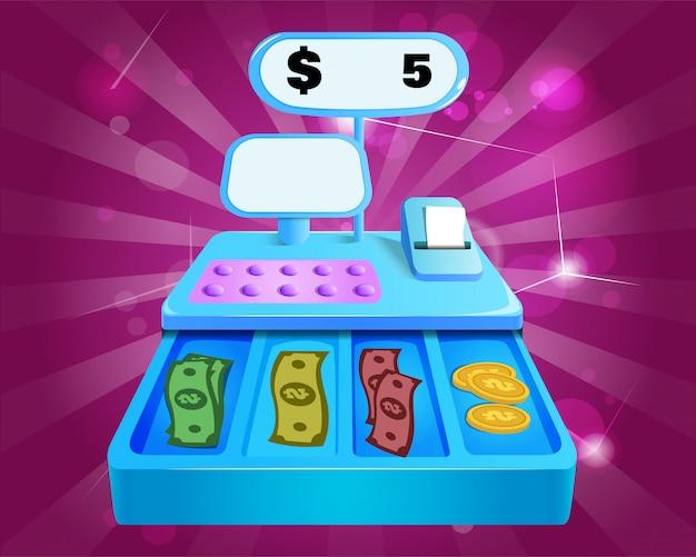 Vector illustration of cash register