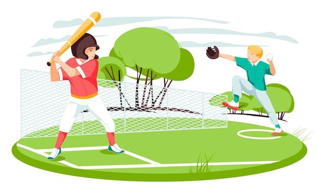 ベクトルイラスト子供のスポーツと活動