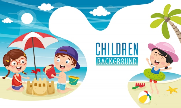 Vector illustration of children background