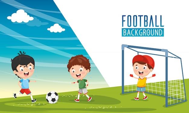 Vector illustration of children background