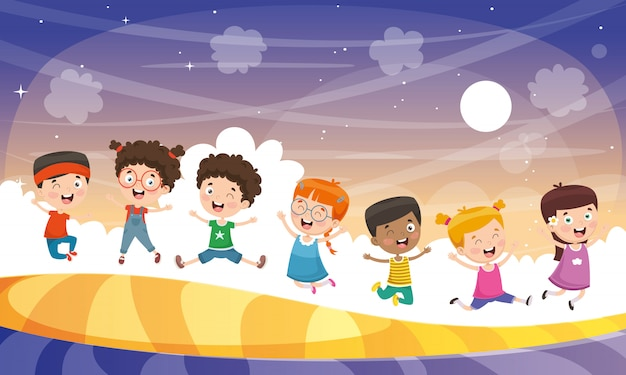 Vector illustration of children