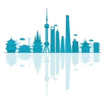 Vector illustration of china skyline.