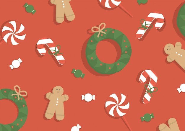 Vector illustration. christmas background.